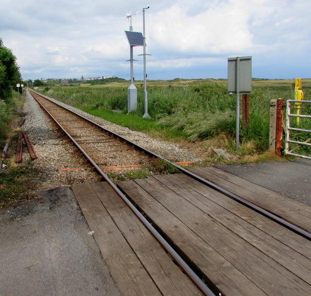 Level crossing near Penally railway station