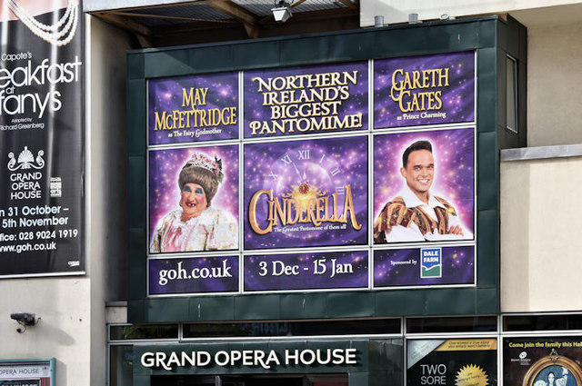 Grand Opera House, Belfast - Christmas pantomime poster (October 2016)