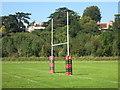 SU7677 : Goal Posts at Shiplake by Des Blenkinsopp