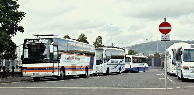 Coach park, Durham Street, Belfast (October 2016)