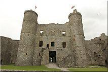 SH5831 : Harlech Castle by Richard Croft
