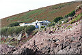SS0597 : Cliff top chalet, Manorbier by Alan Hunt