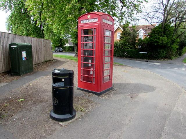 K6  phonebox on a Cheltenham corner