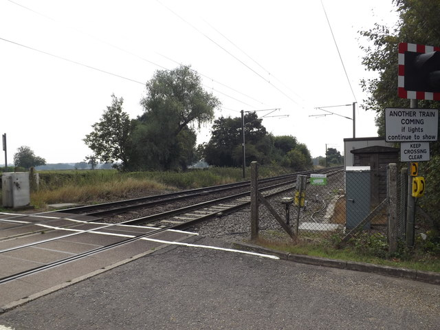 Railway Lines at Grove Road Level Crossing