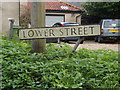 TM1485 : Lower Street sign by Adrian Cable