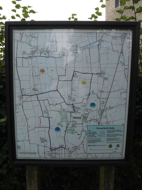 Gissing Village Map