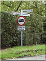 TM1484 : Signpost on Bridge Road by Adrian Cable