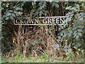 TM1483 : Crown Green sign by Adrian Cable