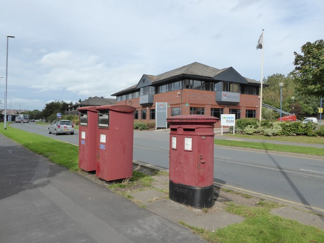 Postboxes on Festival Park