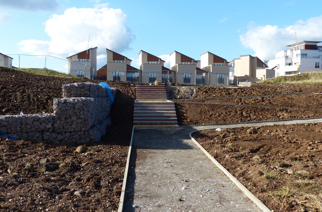 New path and steps at Freemens Meadow