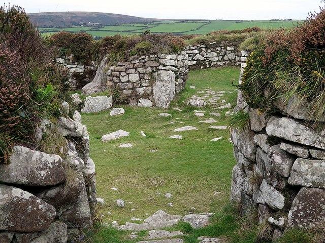 Courtyard house, Chysauster Ancient Settlement