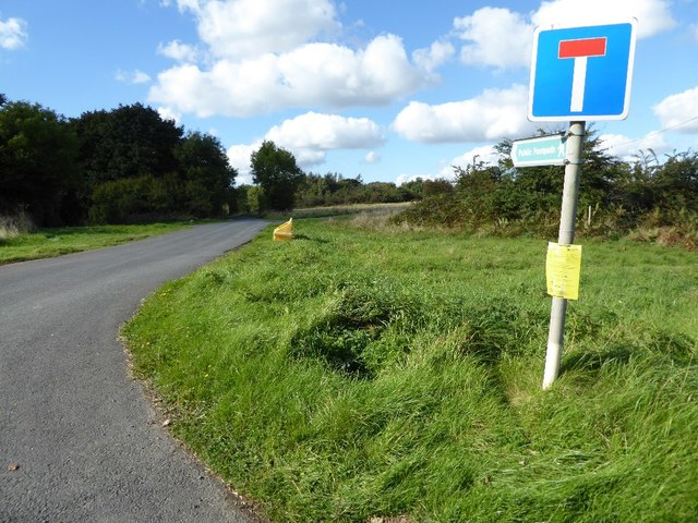No through road on Bromyard Downs