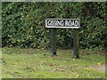 TM1483 : Gissing Road sign by Adrian Cable