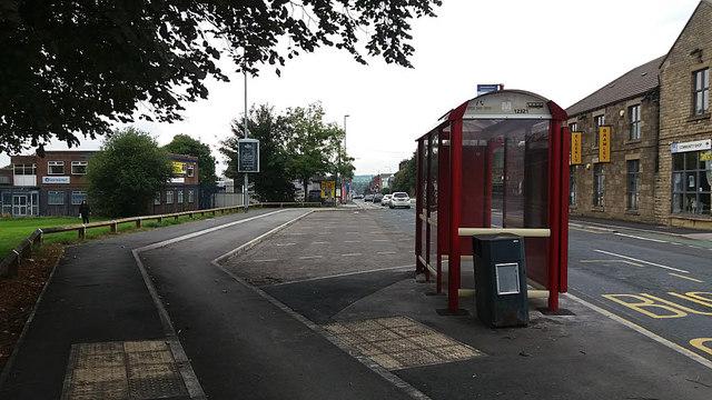 Bus stop opposite Railsfield Mount