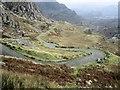 SH6744 : Ffordd droellog / A winding road by Ceri Thomas
