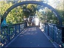 SZ1192 : Boscombe: on South Road footbridge by Chris Downer