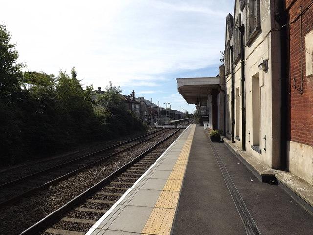 Railway Station Platform at Attleborough Railway Station