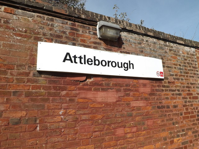 Attleborough Railway Station sign