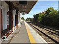 TM0595 : Railway Station Platform at Attleborough Railway Station by Adrian Cable