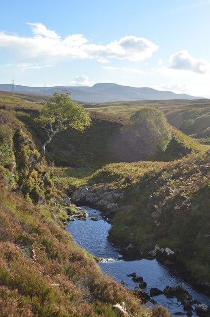 Allt a' Mhuilinn watercourse, East Sutherland