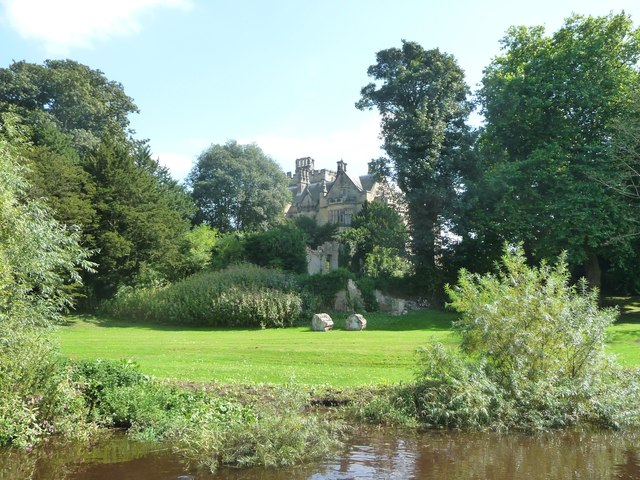 Moreby Hall, from the River Ouse