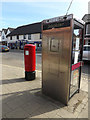 TM0495 : Church Street Postbox & Telephone Box by Adrian Cable