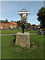 TM0495 : Attleborough Town sign by Geographer