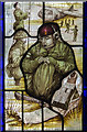 SK9348 : Detail of stained glass window, St Vincent's church, Caythorpe by J.Hannan-Briggs