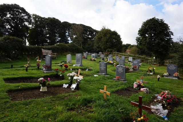 Graveyard at All Saints Church, Heath