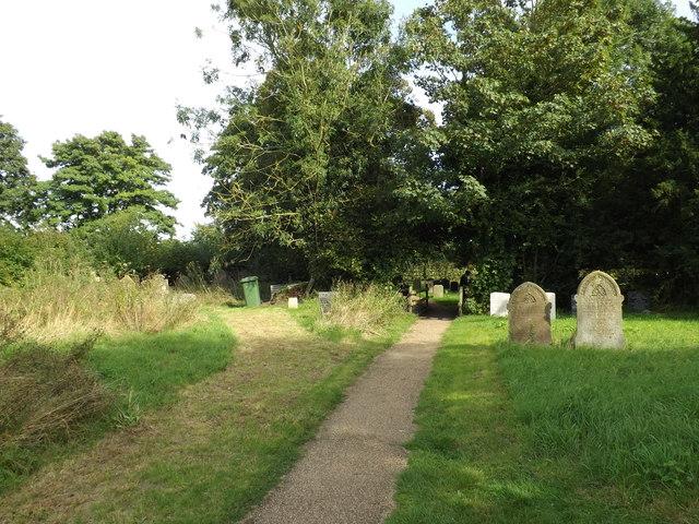 Footpath to Abbey Road & Harlingwood Lane