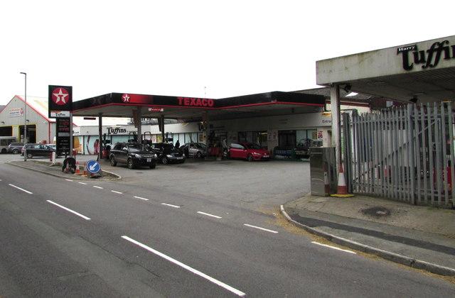 Texaco filling station, Machynlleth