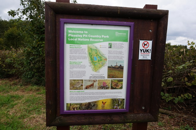 Information board at Pleasley Pit Country Park