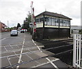 SO9322 : Alstone Lane level crossing signalbox, Cheltenham by Jaggery