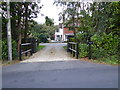 TQ3437 : Entrance to Larchwood House by Shazz