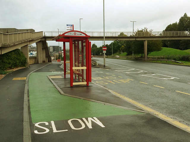 Relocated bus stop, Armley Road