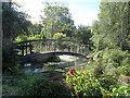 SX8288 : Footbridge by sluice, Sowton Mill by Stephen Craven