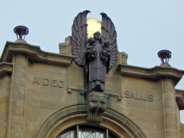 The Russell Institute: angel statue