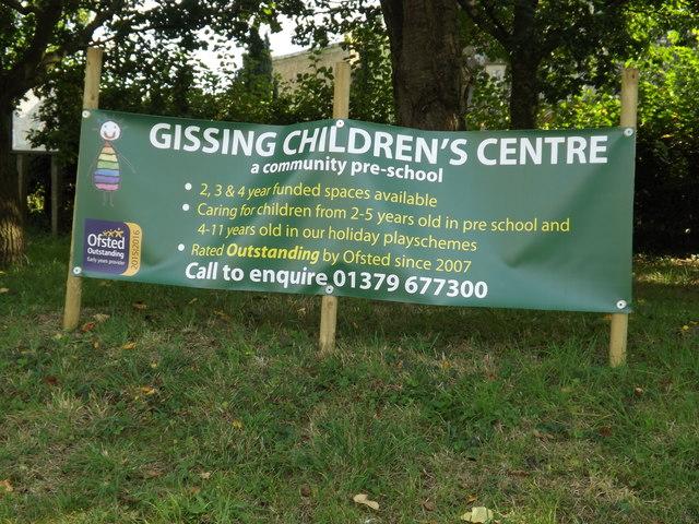 Gissing Children's Centre Poster