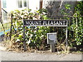 TM1180 : Mount Pleasant sign by Adrian Cable