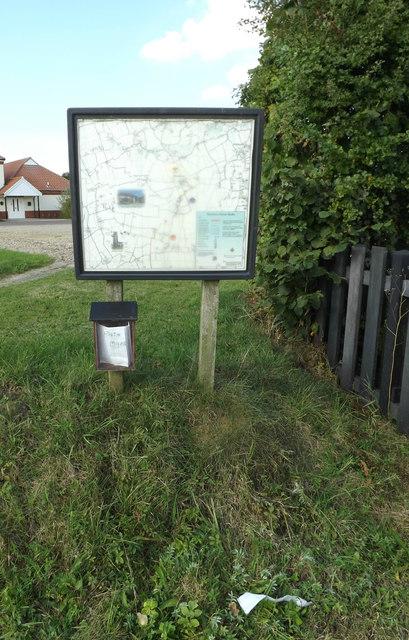 Tibenham Parish Walks Map & Village Notice Board