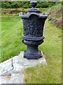 NJ7407 : Dunecht House - Urn by Stanley Howe