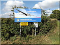 TM1589 : Norfolk Gliding Club sign by Adrian Cable