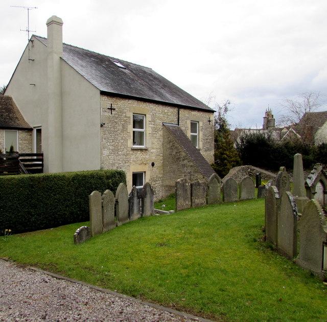Gravestones in a Minchinhampton churchyard