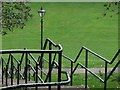 ST5775 : Lamppost and railings, Redland Green by Derek Harper
