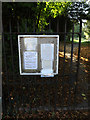 TM1389 : All Saints Church Notice Board by Adrian Cable
