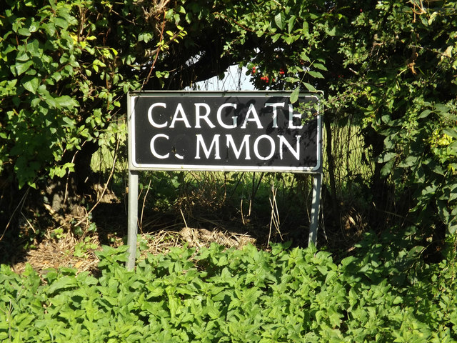 Cargate Common sign