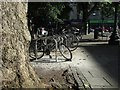 ST5774 : Bike racks, Alma Road, Bristol by Derek Harper