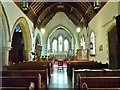 SN9668 : Interior of St. Clement's church, Rhayader by Derek Voller