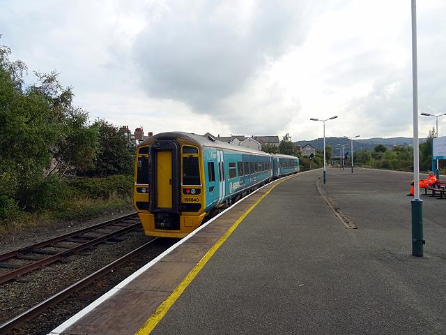 A train for Birmingham International departs from Llandudno Junction Station