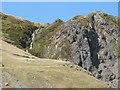 SN8074 : Waterfall above the old mine workings near Cwmystwyth by Derek Voller